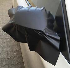 2x3D nero opaco Pellicola Con Aria kana Specchietto Retrovisore Taglio 35x25 Car