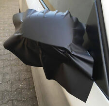 2x3D schwarz matt Folie Mit Luftkana Außenspiegel Spiegel Kappen 35x25 Car wrap