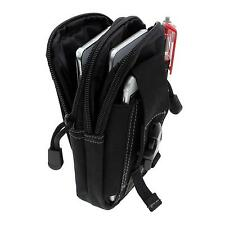 Black Outdoor Hiking Climbing Tactical Waist Bag Pack Pouch for iphone Samsung