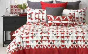 RED BIANCA KING SIZE QUILT SET - FLOYD / RED / BRAND NEW