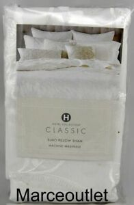 Hotel Collection Classic Jacobean Embroidery KING Pillowshams White