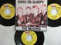 LOT OF 4  ' THE McCOYS ' HIT 45's+1P(Copy) [HANG ON SLOOPY]      THE 60's!