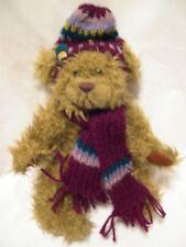 "Pickford Bears Ltd DOOLEY Brass Button Bear hat scarf Teddy Bear 11"""