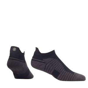 Rock Em Elite Hex Performance Basics Black Low Cut No Show Socks (L/XL)