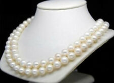 8-9MM WHITE AKOYA ROUND PEARL NECKLACE 14K Gold Clasp 35Inch JN830