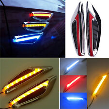 Blade Steering Light Fender Side Marker Light Car LED Turn Signal Lamp White PL
