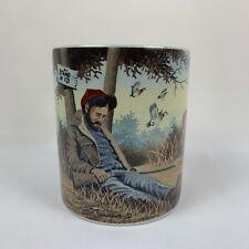 "Lang & Wise Collector Coffee Tea Mug 1998 ""The Deer Hunter"" by John Zed King"