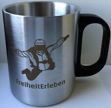 Fallschirmspringer Edelstahl Becher Kaffeebecher Edelstahbecher Fallschirm Sport