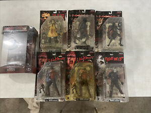McFarlane Movie Maniacs Series 1 Horror Figure Lot  6 Figures and 1 Box Set!