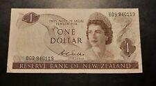 1977 - Reserve Bank Of New Zealand - 1 Dollar Banknote, Serial No. B09 940119