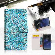 Seamless pattern with paisley Wallet Case Cover For Samsung Galaxy Note 8- A022
