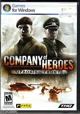 Lot 50 Company Of Heroes: Opposing Fronts - PC DVD Game 752919493267 New Sealed!