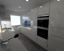 Ex-Display Handless German Kitchen for Sale (Units only) RRP £7,000 Gloss White