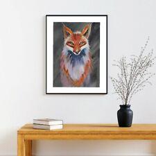 A3 original  watercolour animal painting , Fox