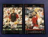2007 Topps #203 #297 BRAD AUSMUS w Gold Glove Lot Houston Astros Set Break