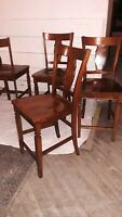 Beautiful Solid Wood Dining Chairs at a Great Price w/ Intricate Carving Details