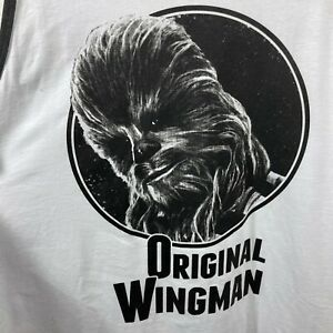 Disney Star Wars Chewbacca Original Wingman White Mens Tank Top Sz XL NEW