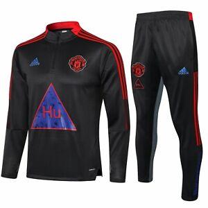Manchester United Football Sportswear Jumper training suit Mens Jumper + Pants