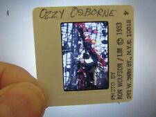 More details for original press photo slide negative - ozzy osbourne - 1983 - a