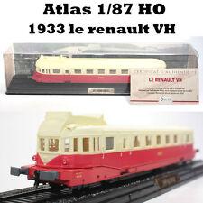 Atlas 1:87  AUTORAILS LE RENAULT VH 1933 X-2100 SNCF 1/87 HO Diecast Model Train