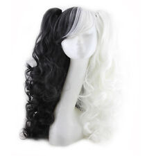 Women Gothic Lolita 2 Ponytails Long Wavy Curly Wavy Hair Cosplay Wig Anime Wig