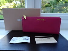 Gorgeous 100% Authentic Miu Miu Gold & Pink Leather Purse Wallet