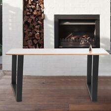 2 pcs pieds de table carrée en acier pour meubles de salle à manger/banc/bureau