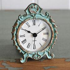 Mantle Clock Aqua Shabby Chic Vintage French Style