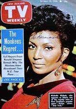 TV Guide 1968 Star Trek Uhura Nichols International TV Weekly New Zealand COA