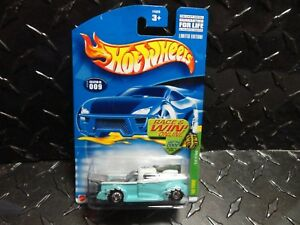 2002 Hot Wheels Treasure Hunt #9 Turquoise'40 Ford Camión Con / Real Riders
