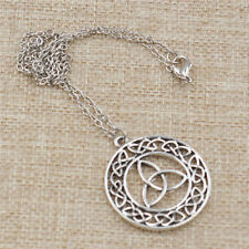Viking Celtic Knot Pendant Amulet Religious Trinity Necklace Jewelry For Unisex
