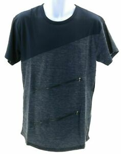 Galaxy Shirt Mens Size Medium Short Sleeve Navy Blue and Gray
