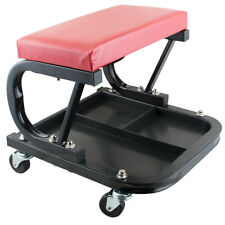 Mechanic Garage Creeper Seat Rolling Stool Chair Tray Storage Work Shop Tool