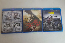 Lot of 3 Blu-Ray Movies - Fury, 300, Barricade