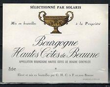 Etiquette de Vin -Bourgogne -  Hautes Côtes de Beaune - Réf.n°137