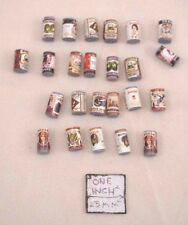 Old Fashion Grocery Cans Set - dollhouse miniature wood 24pc set H2276