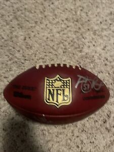 """NFL Wilson Game Used Football """"The Duke"""" Detroit Lions Autographed"""