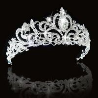 Bridal Bridesmaid Wedding Crystal Rhinestone Diamante Crown Tiara Headband Hot