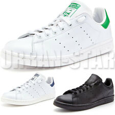Adidas Originals Men's STAN SMITH Trainers Leather Black White Shoes UK Sizes