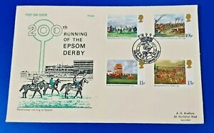 GB First Day Cover 6 June 1979 200th Running of the Epsom Derby Horse Racing NZ1