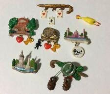 Vintage Brooch Pins Charms Broke Missing West Germany 5 Plastic 1 Metal