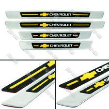 CHEVROLET Carbon Fiber+Rubber Car Door Scuff Sill Cover Panel Step Protector