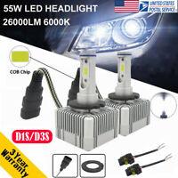 110W 26000LM D1S D3S Car LED Headlight Kit DRL Lamp High Low Beam Bulbs 6000K