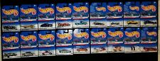 Eighteen (18) Hot Wheels 1998: Nos. 22 to 37 and 39 to 40 (missing No. 38)