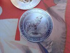 2015 3/4 oz. Canadian Grey Wolf 2$ coin .9999 fine silver uncirculated RCM