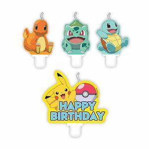Pokémon Pikachu Happy Birthday Cake Candle Set Boys Girls Party Detective Decor