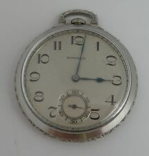 Howard solid Platinum antique pocket watch, 17 jewels, works great, very rare!