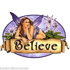 Selina Fenech Sticker Decal Large Believe Fairy Faery Sign Banner Purple Wings