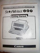 """Instructions Machine à écrire Canon Starwriter Jet """"Getting Started"""" CD/E-mail"""