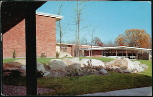 CORNWALL NY Central High School Library View Vintage 1961 Postcard Old Town PC